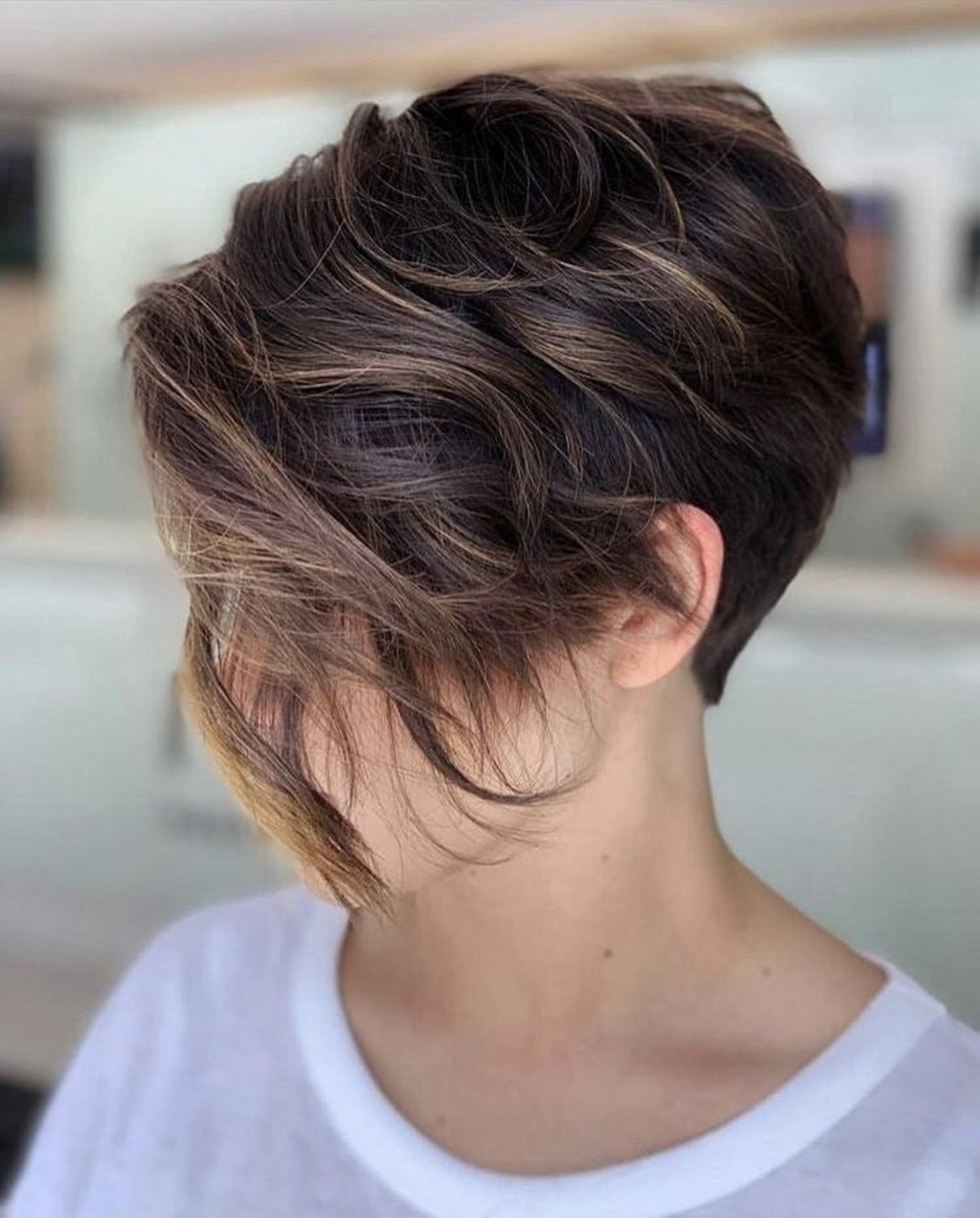 48 Short Pixie Hairstyle Ideas For Young Ladies And Mature In Fashionable Asymmetrical Pixie Hairstyles With Pops Of Color (View 2 of 20)