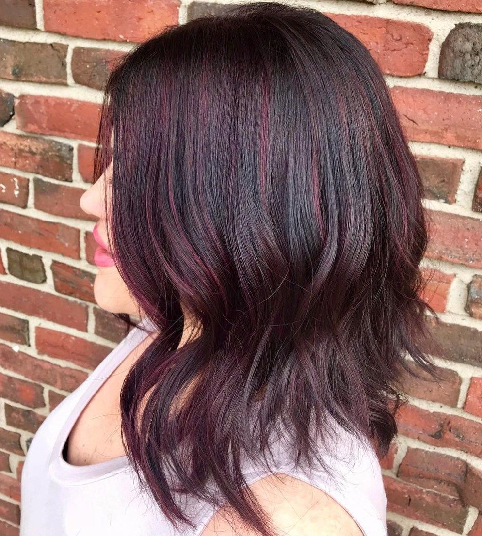 50 Beautiful Burgundy Hair Colors To Consider For 2021 Regarding Burgundy Balayage On Dark Hairstyles (View 12 of 20)
