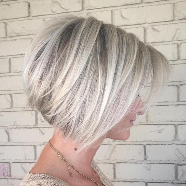 50 Best Inverted Bob Hairstyles 2021 – Inverted Bob Inside Ash Blonde Balayage For Short Stacked Bob Hairstyles (View 15 of 20)