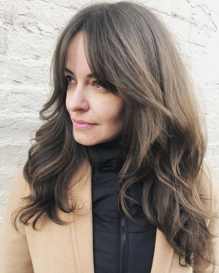 50 Cute And Effortless Long Layered Haircuts With Bangs In Regarding Most Recently Released A Shape Framed Haircuts (View 6 of 20)