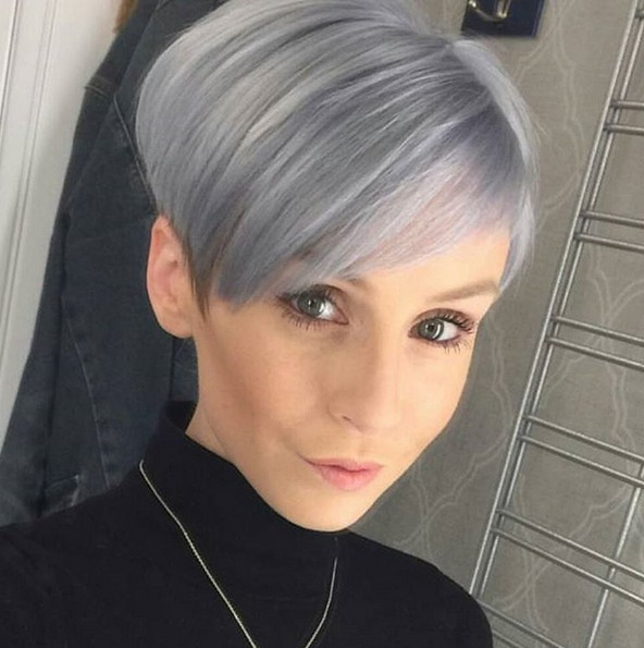 50 Hottest Balayage Hairstyles For Short Hair – Balayage Intended For Half Bob Half Pixie Hairstyles With Cool Blonde Balayage (View 8 of 20)
