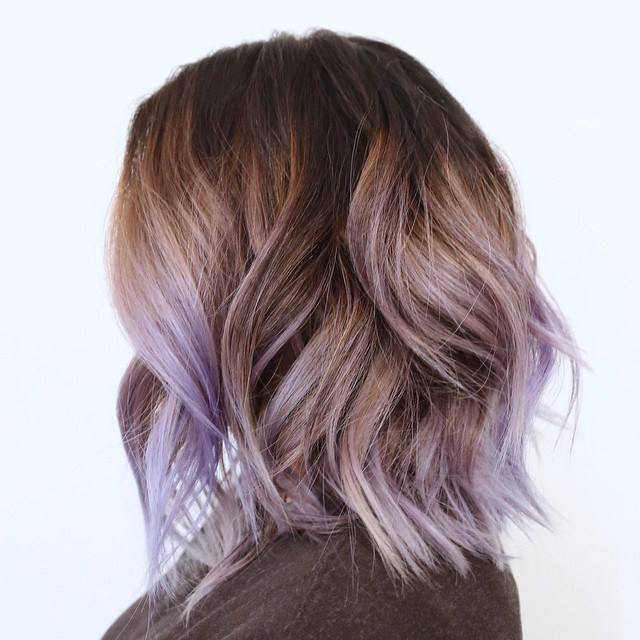 50 Hottest Balayage Hairstyles For Short Hair – Balayage Intended For Lavender Balayage For Short A Line Haircuts (View 9 of 20)