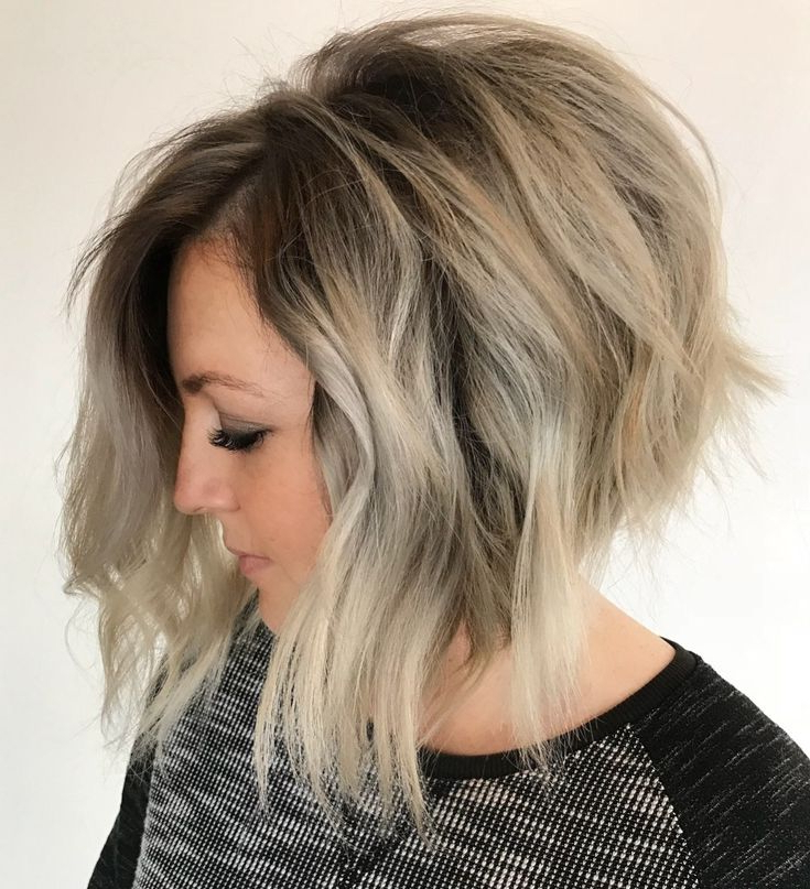 50 Latest A Line Bob Haircuts To Inspire Your Hair For Lavender Balayage For Short A Line Haircuts (Gallery 12 of 20)