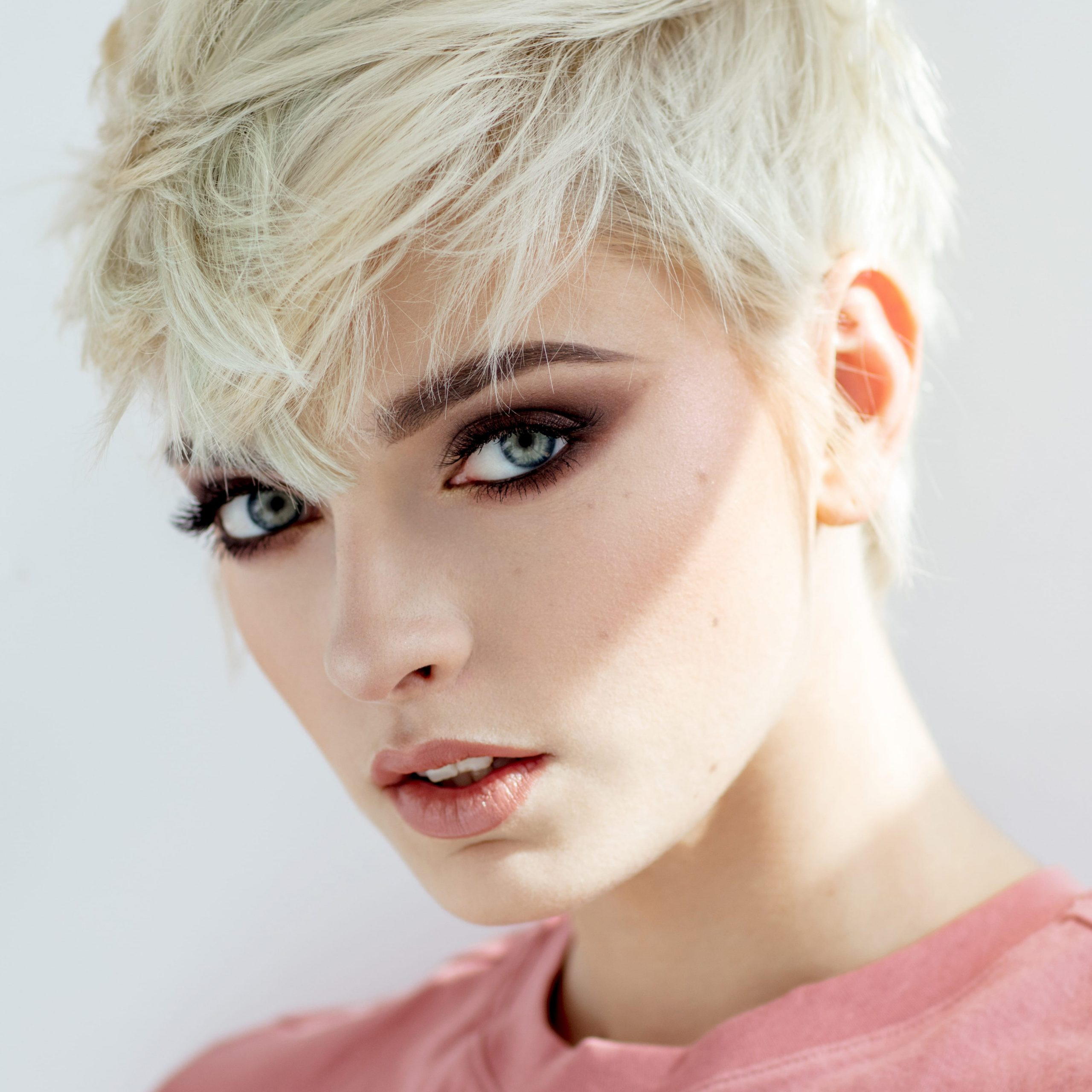 50+ Latest Short Hairstyles For Women For 2021   Haircut Pertaining To Half Bob Half Pixie Hairstyles With Cool Blonde Balayage (View 10 of 20)