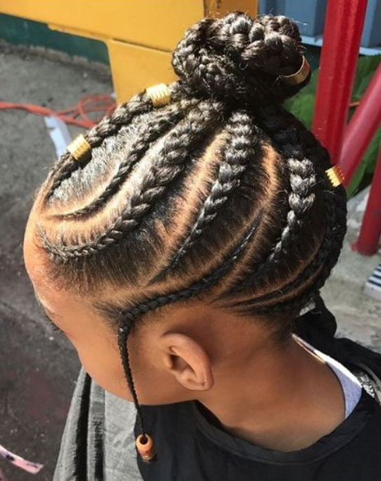 50 Most Inspiring Hairstyles Ideas For Little Black Girls Throughout 2017 Tiny Braids Hairstyles For Front Pieces (View 5 of 20)