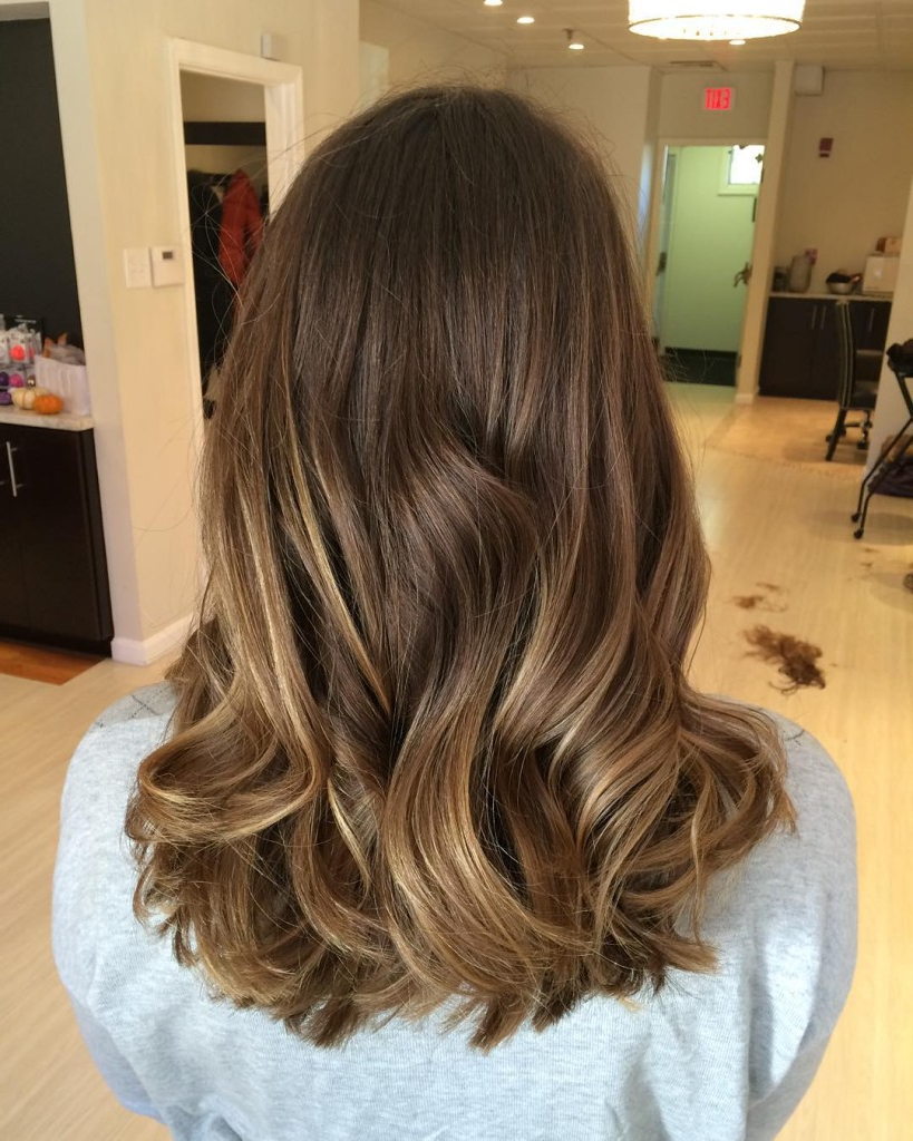 60 Balayage Hair Color Ideas With Blonde, Brown, Caramel For Short Brown Balayage Hairstyles (View 18 of 20)