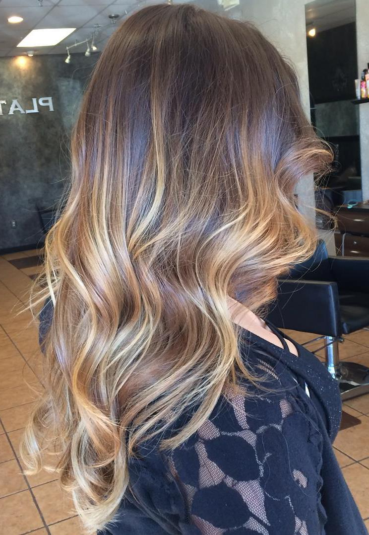 60 Balayage Hair Color Ideas With Blonde, Brown, Caramel With Regard To Brown Blonde Balayage Hairstyles (View 9 of 20)