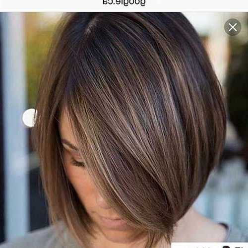 60 Best Short Angled Bob Hairstyles 2019 | Brown Balayage Regarding Warm Balayage On Short Angled Haircuts (View 5 of 20)