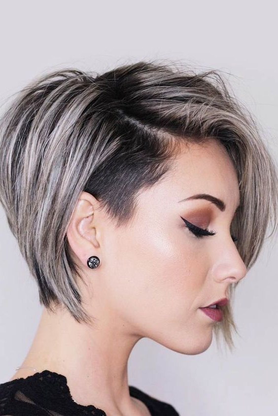 60 Modern Shaved Hairstyles And Edgy Undercuts For Women For Best And Newest Edgy Undercut Pixie Hairstyles With Side Fringe (View 11 of 20)