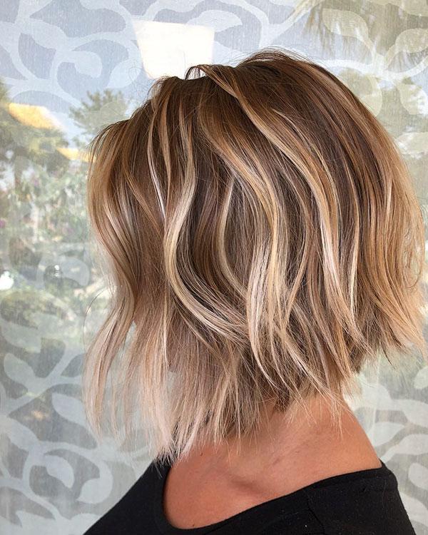 60 Popular Bob Hairstyles 2019 Regarding Blunt Cut Blonde Balayage Bob Hairstyles (View 3 of 20)
