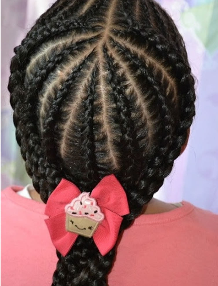 64 Cool Braided Hairstyles For Little Black Girls – Page 4 In Most Popular Tiny Braids Hairstyles For Front Pieces (View 6 of 20)