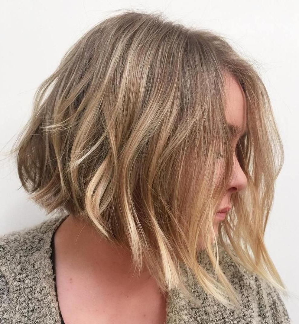 Featured Photo of Blunt Cut Blonde Balayage Bob Hairstyles