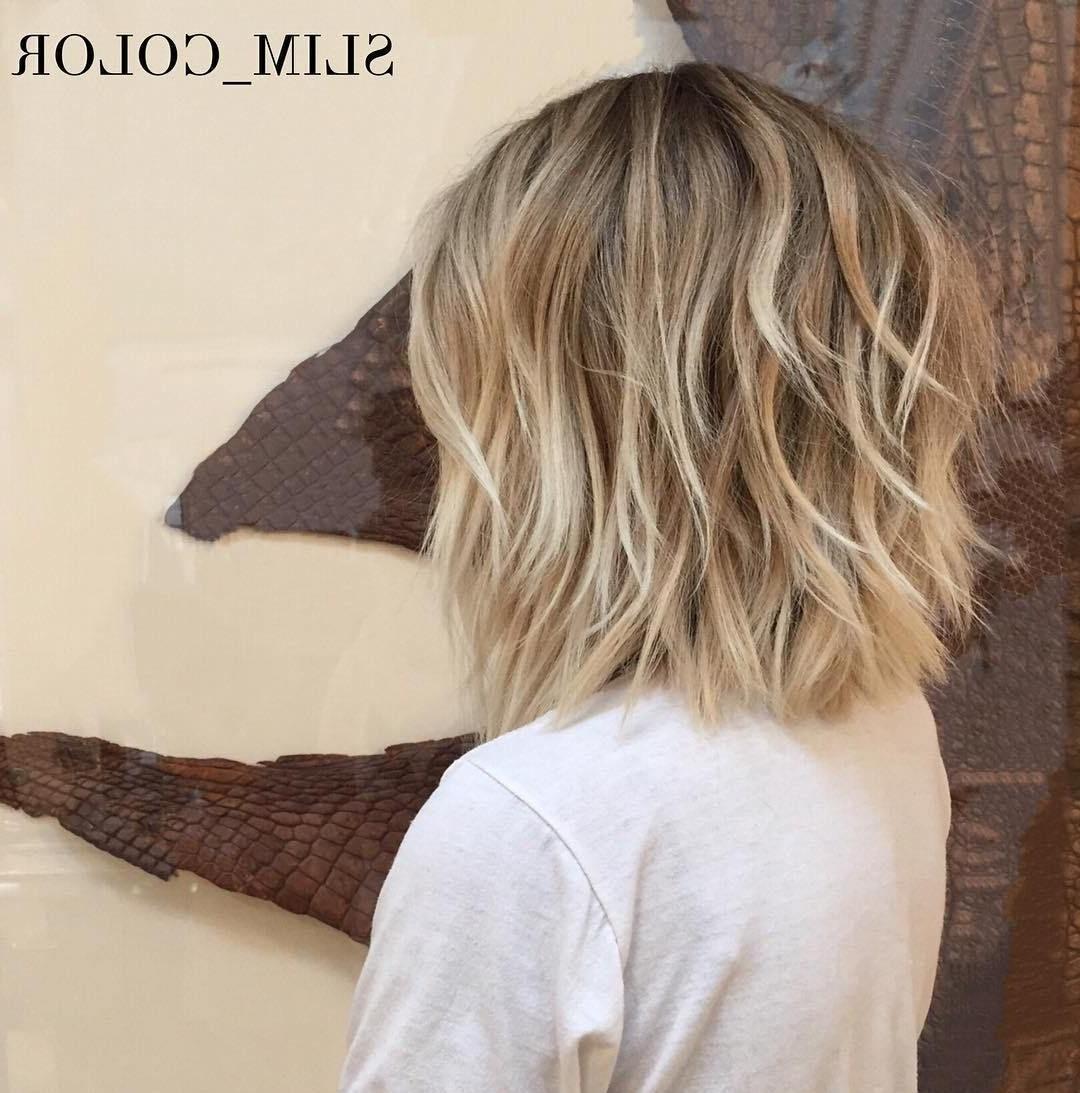 70 Fabulous Choppy Bob Hairstyles   Messy Short Hair, Hair Within Blunt Cut Blonde Balayage Bob Hairstyles (View 11 of 20)