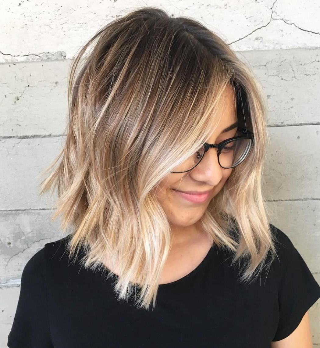 70 Flattering Balayage Hair Color Ideas For 2021 | Ombre In Warm Balayage On Short Angled Haircuts (View 4 of 20)