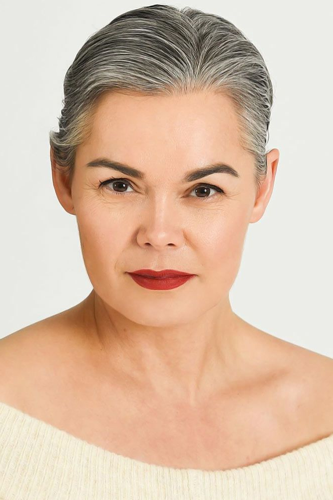 80+ Stylish Short Hairstyles For Women Over 50 Regarding Best And Newest Pixie Hairstyles With Sleek Undercut (View 2 of 20)