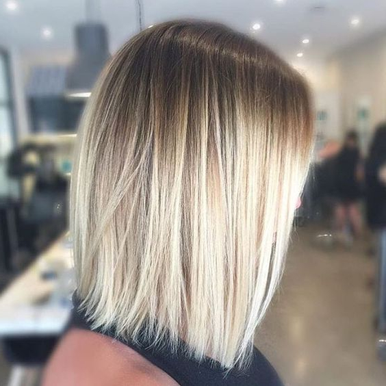 9 Simple Blunt Bob Hairstyles For Medium Hair – Pretty Designs Pertaining To Shaggy Bob Hairstyles With Blonde Balayage (View 9 of 20)