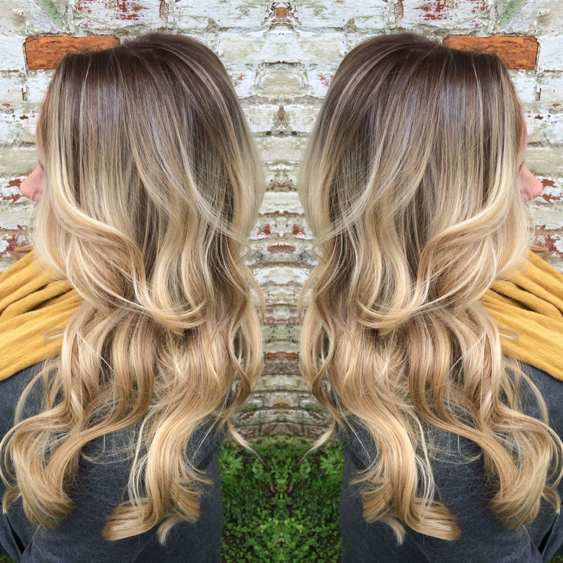 A Rooty Blonde! She Went From Blonde Highlights To This Within Brown Blonde Balayage Hairstyles (View 14 of 20)