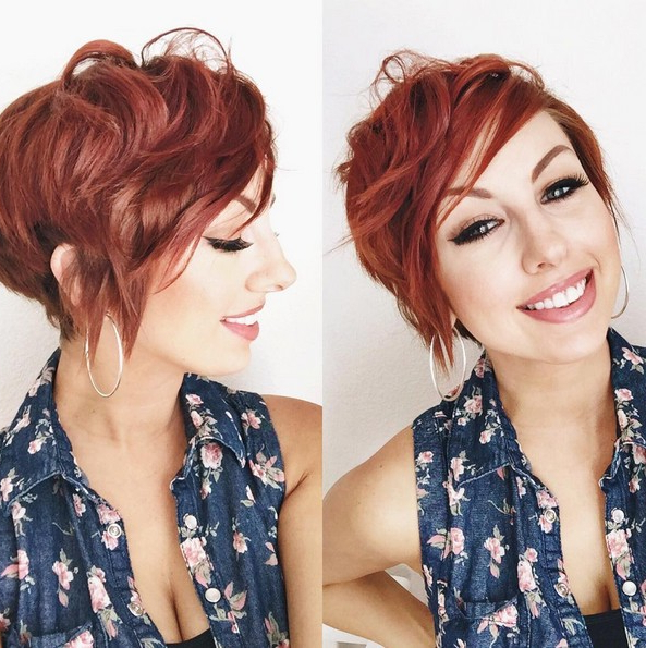 Adorable Pixie Haircut Ideas With Bangs – Popular Haircuts Intended For Pixie Hairstyles With Red And Blonde Balayage (View 15 of 20)