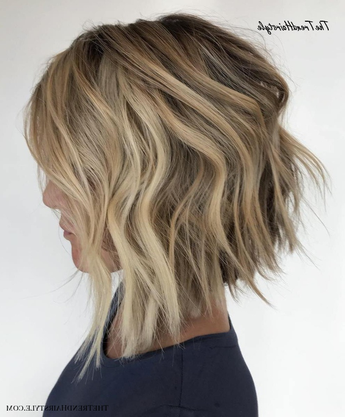 Angled Choppy Bob With Jagged Edges – 50 Wavy Bob Intended For White Blonde Curly Layered Bob Hairstyles (View 6 of 20)