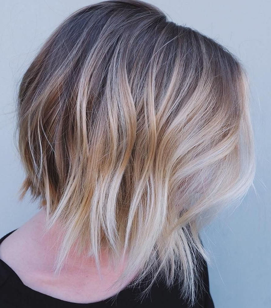 Angled+bob+with+balayage | Hair Styles, Fine Hair Throughout Lavender Balayage For Short A Line Haircuts (View 6 of 20)