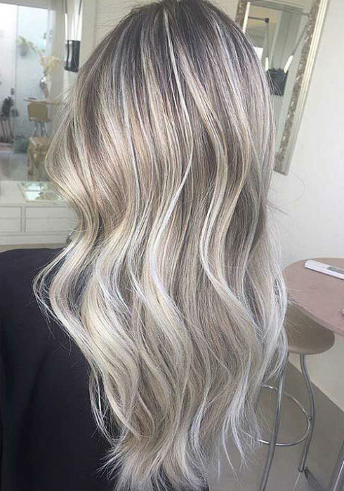 Ash Blonde Balayage And Silver Ombre Hair Color Ideas 2017 In Ash Blonde Balayage Ombre On Dark Hairstyles (View 17 of 20)