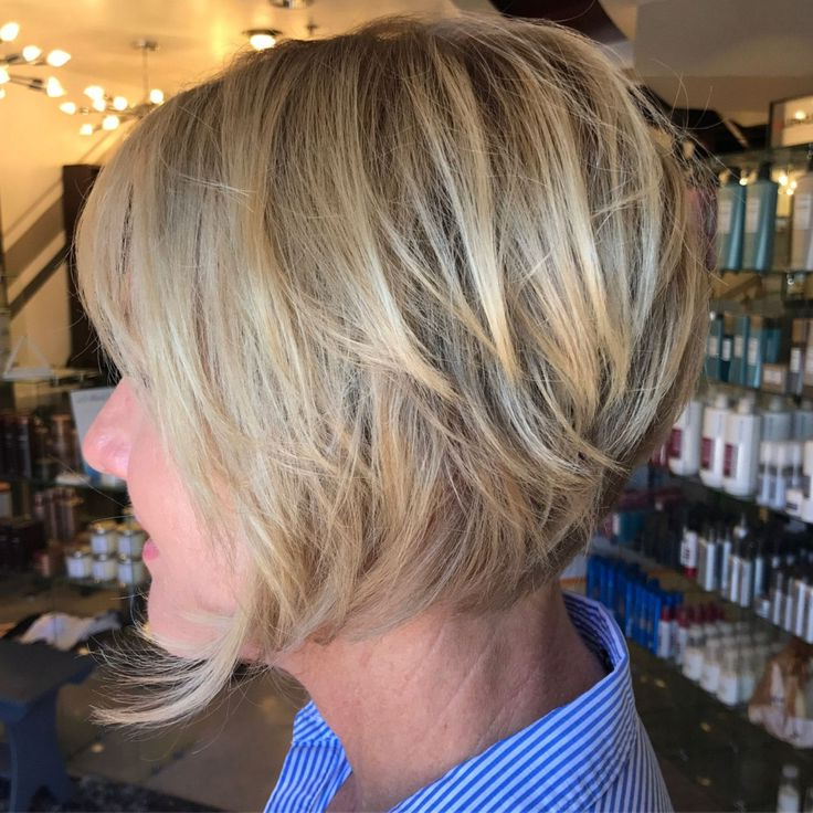 Ash Blonde Layered Bob Over 50   Short Hairstyles For Regarding Ash Blonde Balayage For Short Stacked Bob Hairstyles (View 14 of 20)
