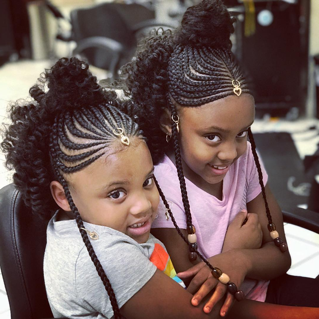 Awesome Braided Hairstyles For Little Girls – Loud In Naija For Most Recent Tiny Braids Hairstyles For Front Pieces (Gallery 4 of 20)