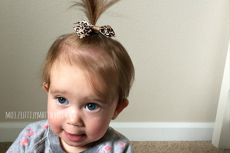Baby And Toddler Girl Hairstyles – Life With My Littles Throughout Best And Newest Baby Ponytails Hairstyles (View 12 of 20)