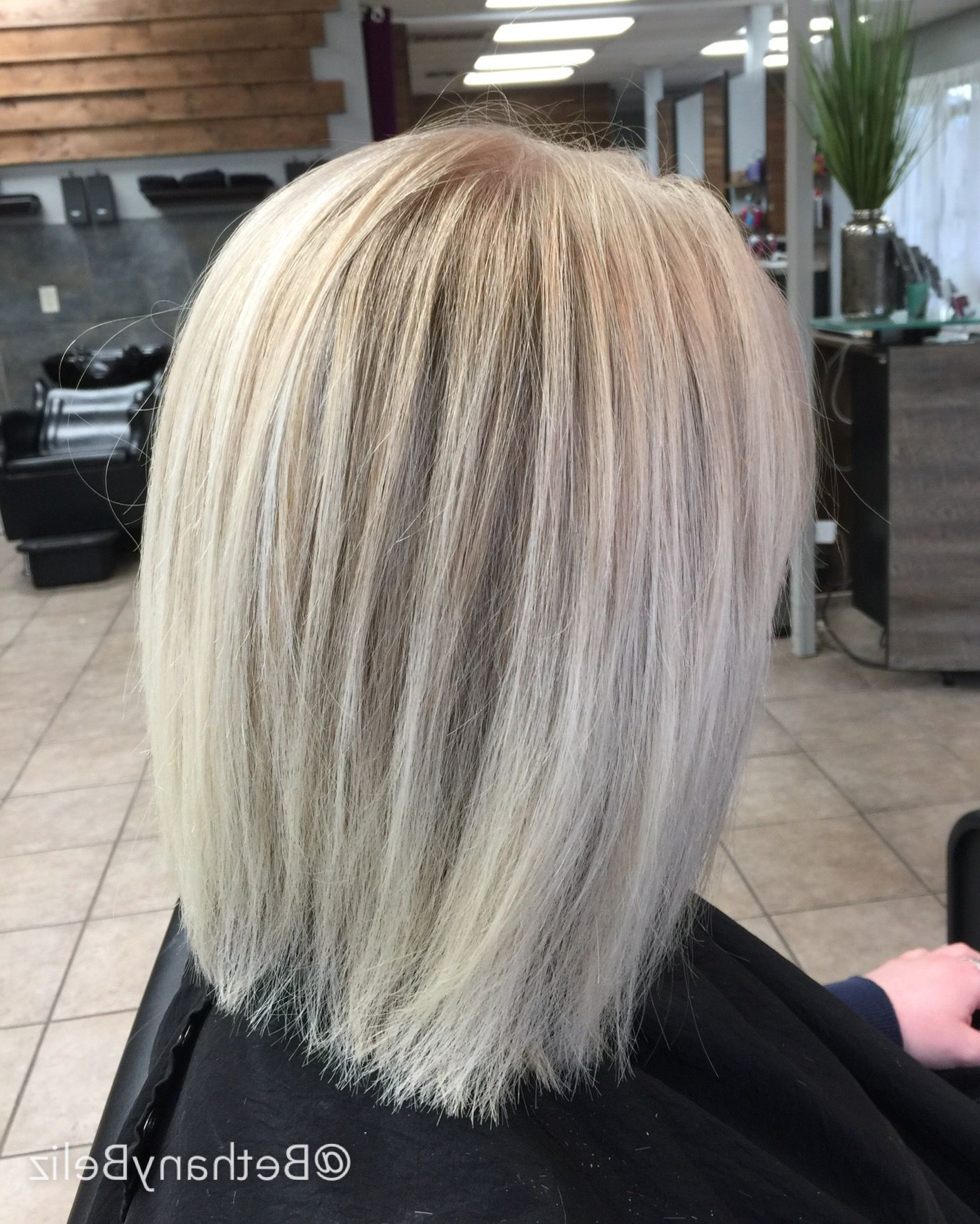 Balayage And Highlights With Icy White Ends Along With A Within Balayage Highlights For Long Bob Hairstyles (View 6 of 20)