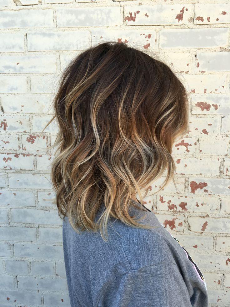 Balayage, Brown Hair, Brown Balayage, Hair, Short Hair For Blonde Balayage On Short Dark Hairstyles (View 2 of 20)