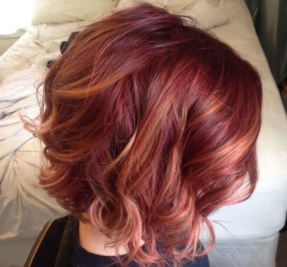 Featured Photo of Pixie Hairstyles With Red And Blonde Balayage