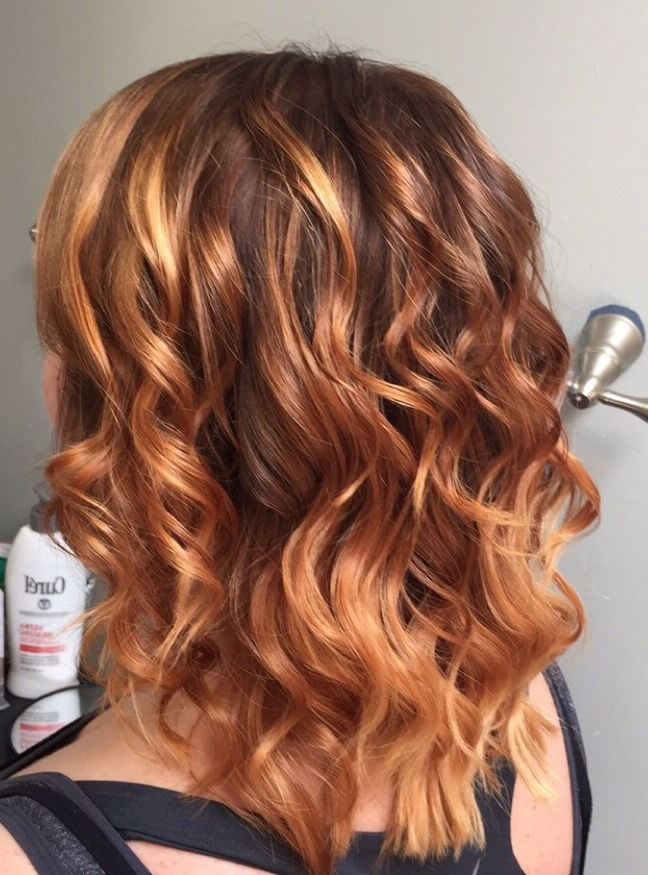 Balayage Ombré Highlights From Level 6 Brown To Strawberry Inside Marsala To Strawberry Blonde Ombre Hairstyles (View 3 of 20)