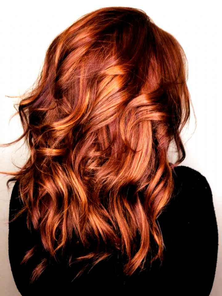 Balayage Red And Caramel #hair Color Ideas For Blondes In Intended For Natural Brown Hairstyles With Barely There Red Highlights (View 2 of 20)