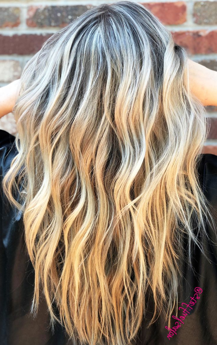 Beach Waves   Long Hair Styles, Beachy Hair, Blonde Highlights Pertaining To Beachy Waves Hairstyles With Balayage Ombre (View 14 of 20)