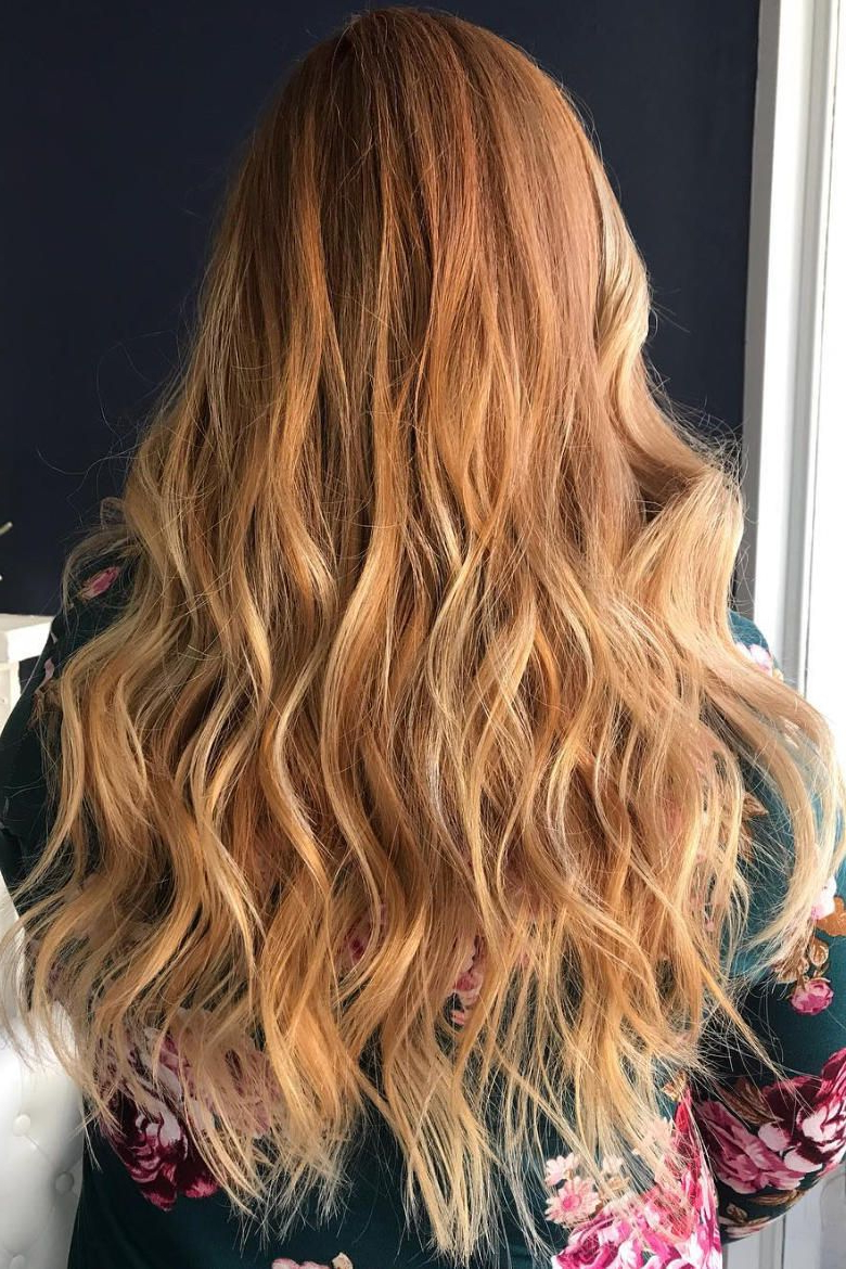Featured Photo of Marsala To Strawberry Blonde Ombre Hairstyles