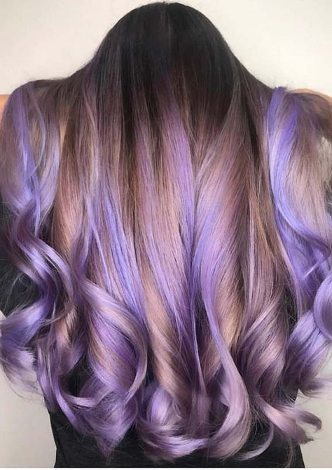 Beautiful Trends Of Lavender Balayage Hairstyles In 2018 In Lavender Balayage For Short A Line Haircuts (View 17 of 20)