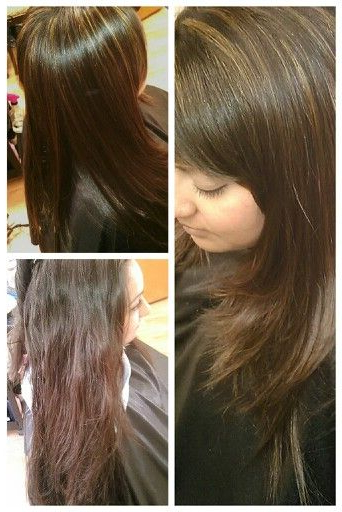 Before Bottom Right, After Caramel And Honey Highlights Inside Most Recent Side Swept Face Framing Layers Hairstyles (View 4 of 20)
