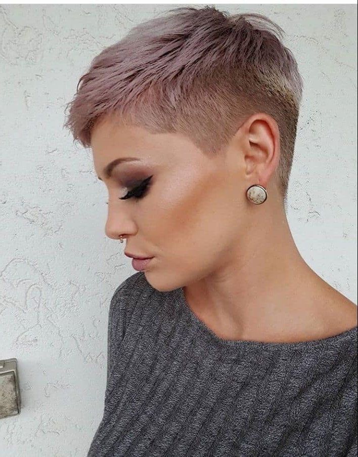 Best 19 Trends In Women's Short Hairstyles 2021 – Elegant Intended For 2017 Tousled Pixie Hairstyles With Super Short Undercut (View 10 of 20)