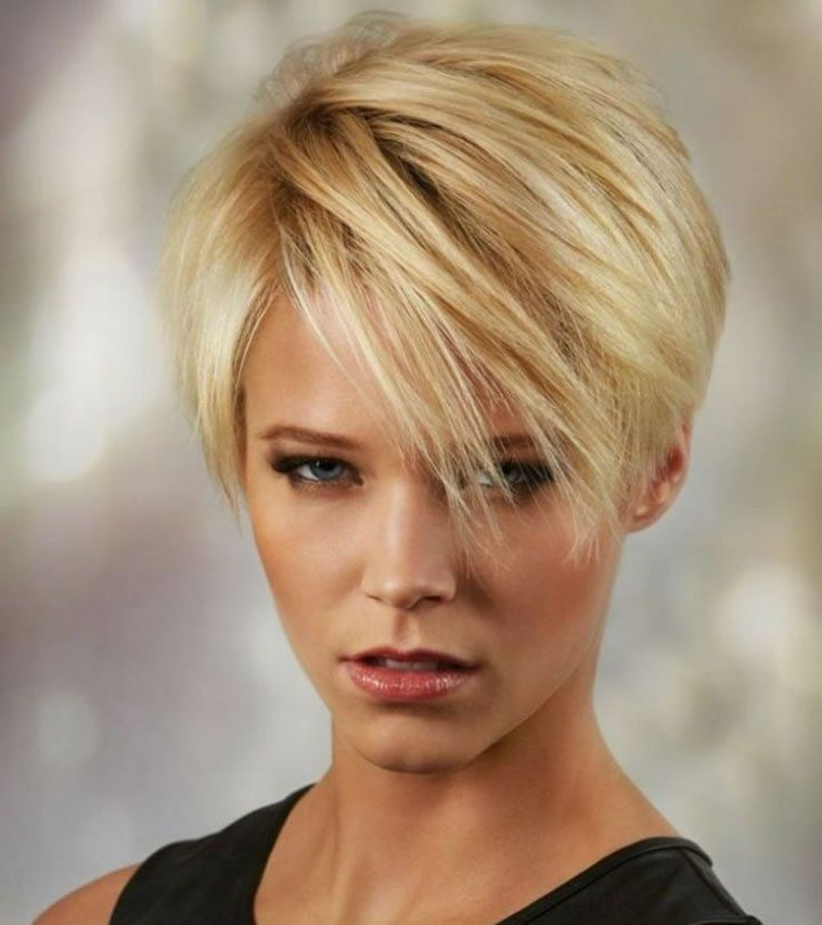 Best And Newest Asymmetrical Pixie Hairstyles With Pops Of Color In 26 Easy Short Hairstyles : Pixie, Bob, Undercut (View 13 of 20)