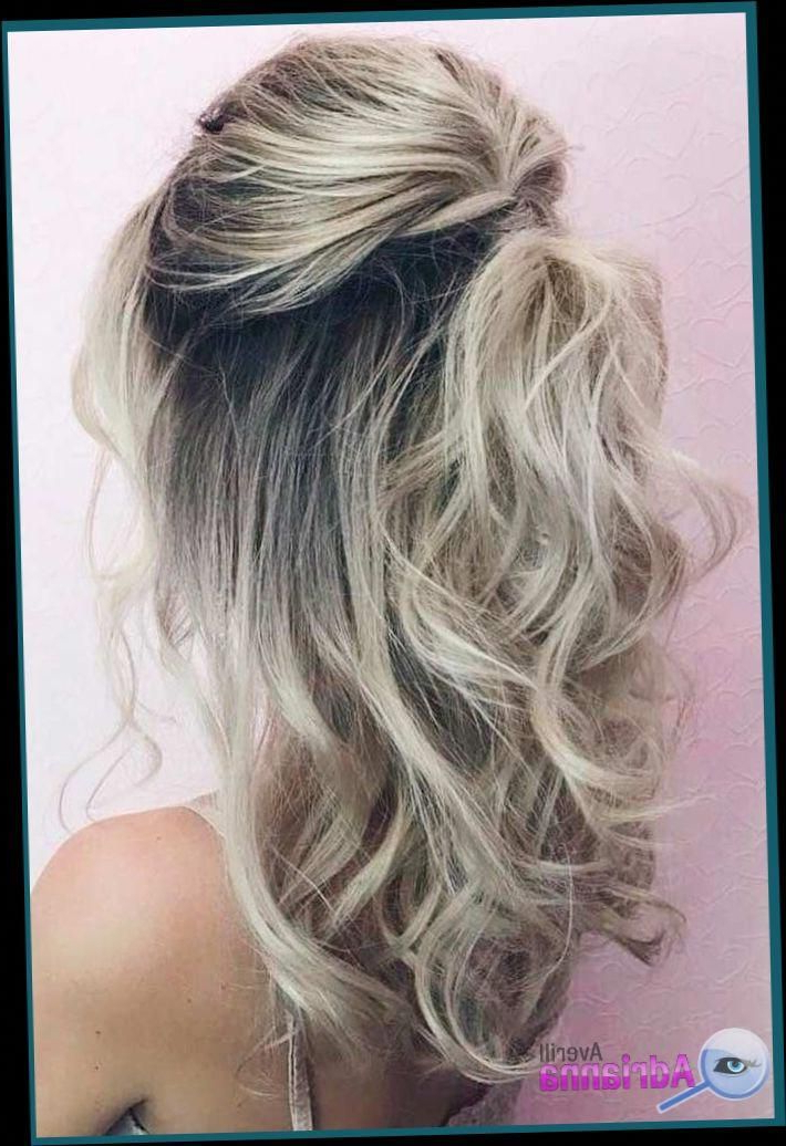 Best And Newest Half Up Half Down Hairstyles With A Fringe With Regard To Wedding Hairstyles With Fringe #weddinghairstyles (View 7 of 20)