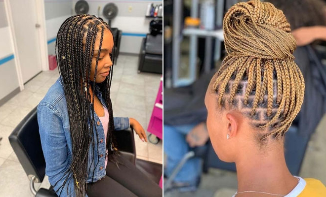 Best And Newest Tiny Braids Hairstyles For Front Pieces Regarding 43 Pretty Small Box Braids Hairstyles To Try (View 15 of 20)