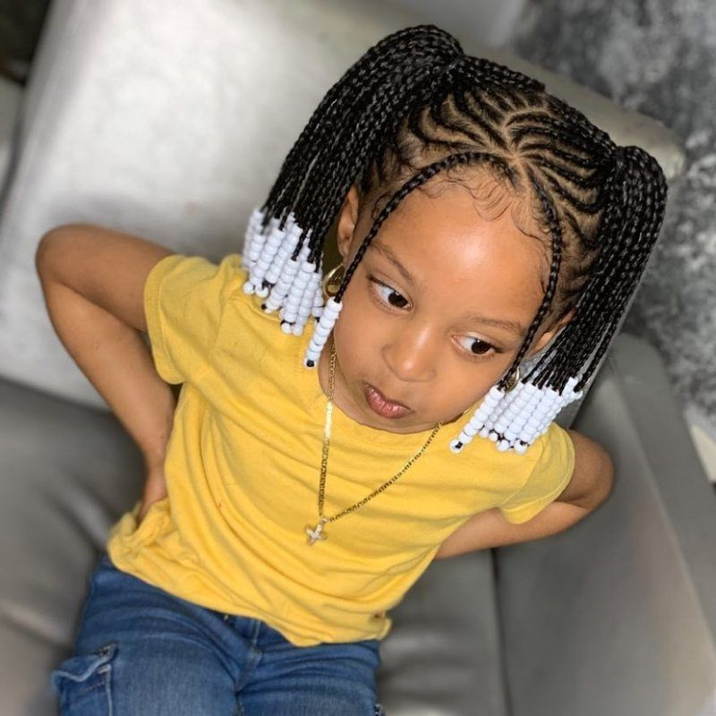 Best And Newest Tiny Braids Hairstyles Inside 21 Braid Hairstyles For Little Girls That Will Make You (View 3 of 20)
