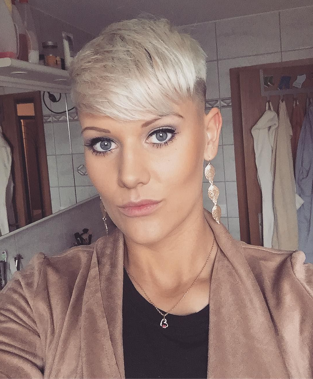 Best And Newest Tousled Pixie Hairstyles With Super Short Undercut Intended For Pin On Short Blonde Haircut (View 6 of 20)