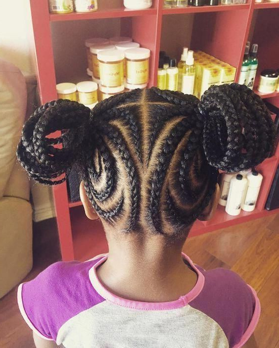 Best Black Intended For Most Recently Released Tiny Braids Hairstyles For Front Pieces (View 12 of 20)