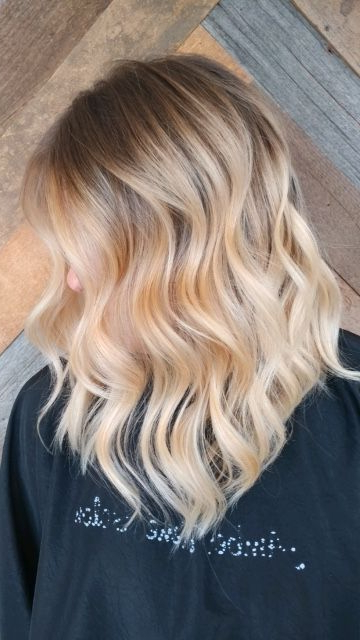 Blonde Balayage A Line | Pretty Hairstyles, Blonde Throughout Lavender Balayage For Short A Line Haircuts (View 15 of 20)