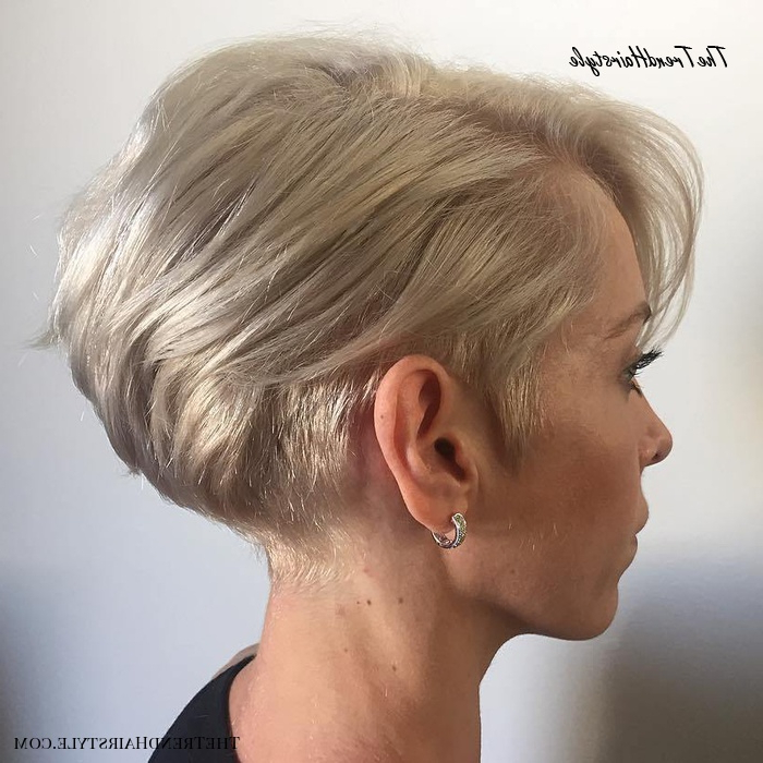 Blonde Bob With Tapered Side – 100 Mind Blowing Short In Half Bob Half Pixie Hairstyles With Cool Blonde Balayage (View 13 of 20)