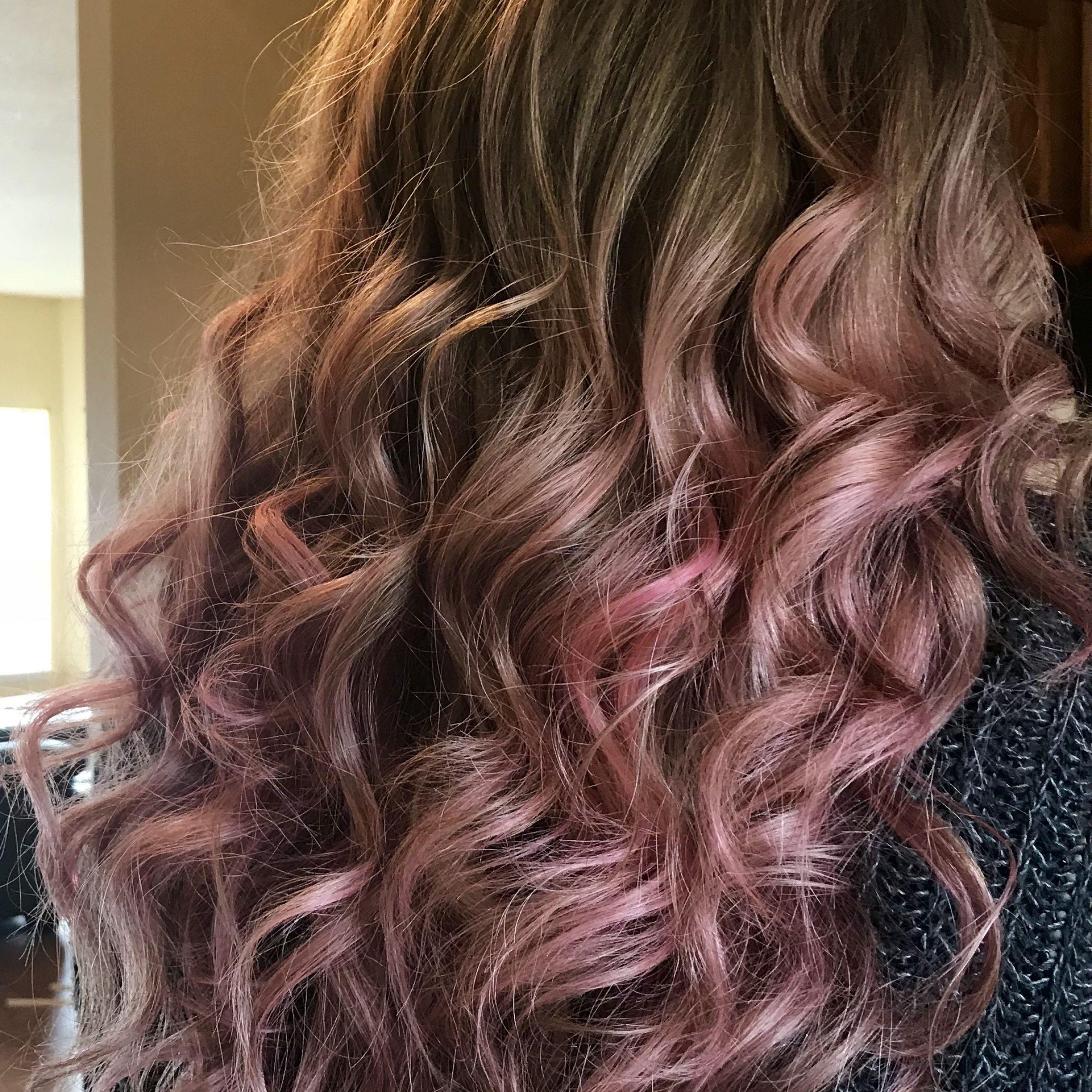 Blonde Pink Balayage 🌷 #hair #balayage #rose   Blonde Pink Regarding Pixie Hairstyles With Red And Blonde Balayage (View 13 of 20)