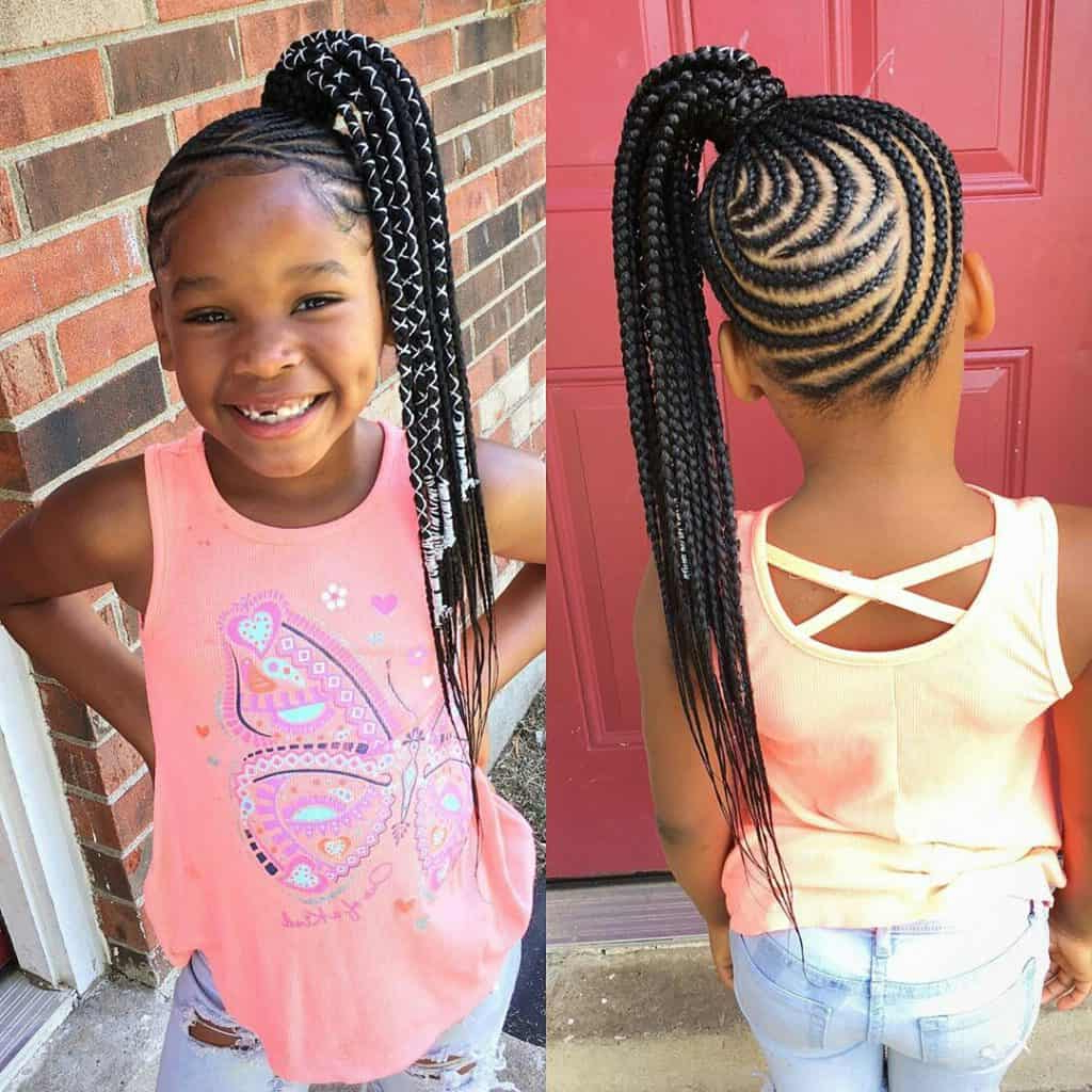 Braids For Kids – 100 Back To School Braided Hairstyles In Most Recently Released Tiny Braids Hairstyles For Front Pieces (View 13 of 20)