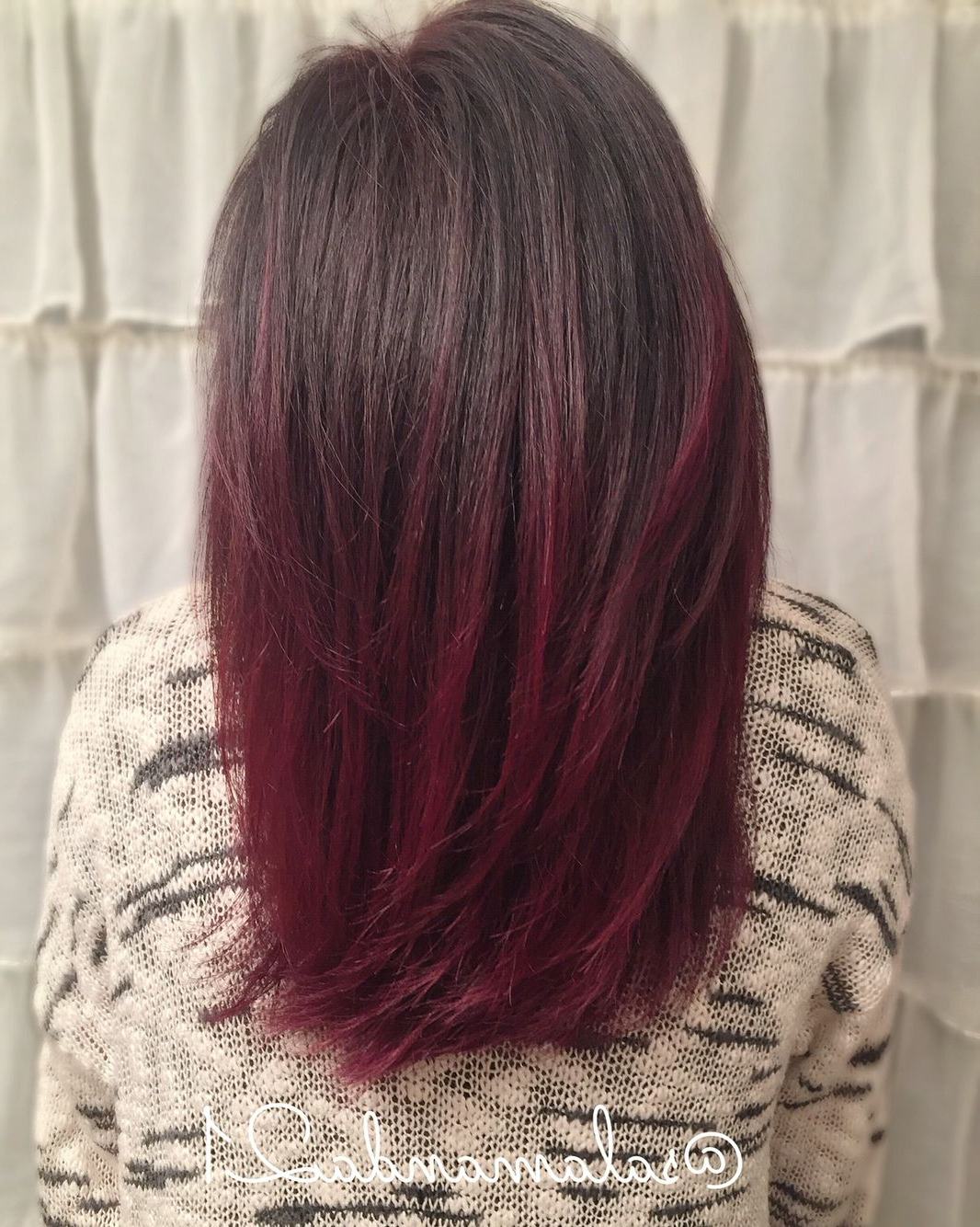 Burgundy Red Balayage   Red Balayage Hair, Red Balayage Regarding Burgundy Balayage On Dark Hairstyles (View 13 of 20)