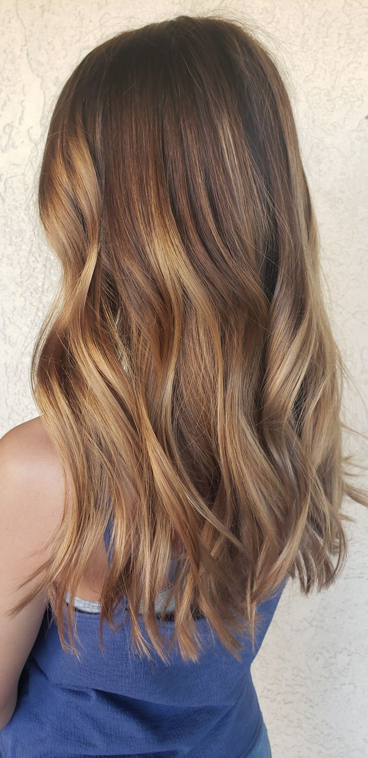 Carmel Balayage Ombre With Wave   Ombre Balayage, Carmel For Beachy Waves Hairstyles With Balayage Ombre (View 9 of 20)